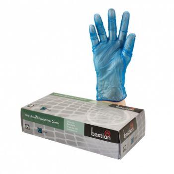 Vinyl Ultra Powder Free Blue Small Gloves, 100/Box
