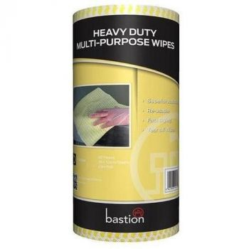 Heavy Duty Cloth Wipes on a Roll - Yellow
